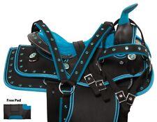 Western Pleasure Trail Cordura Blue Youth Horse Saddle Tack Pad 10 12 13 Used
