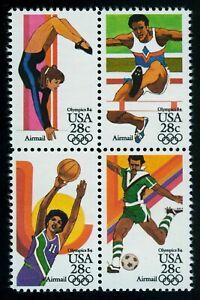 #C104a 28c 1984 Summer Olympics, Se-Tenant Block, Mint **ANY 5=FREE SHIPPING**