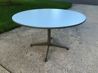 Herman Miller Charles Eames Table Painted Aluminum Base MCM W/ Glides -BASE ONLY