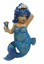 December Diamonds Rough Waters Blue Haired Mermaid Christmas Holiday Ornament