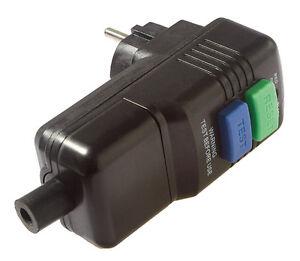 FI Personenschutzstecker Fehlerstrom Schutz Schalter IP54 AS Schwabe