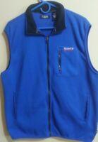 Men's CHAPS SPORT Bright Blue Sleeveless Fleece Vest, Size: Large (L), Full Zip