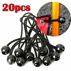 20pcs Black Ball Bungee Bungie Cord Heavy Duty Canopy Tarp Tie Downs Straps
