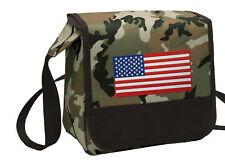 American Flag Lunch Bag CAMO USA Flag Lunchbox Cooler ADJUSTABLE SHOULDER BAG