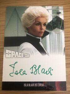 Space 1999 Series 4 Isla Blair As Carla Autograph Card IB2 Green Ink
