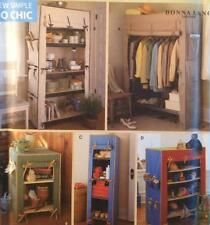 UC Simplicity 8255 Sewing Pattern Storage Unit Covers Organizers Bookcase Shelf