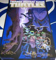 Teenage Mutant Ninja Turtles TMNT cast signed 2016 SDCC poster Astin Eastman +6