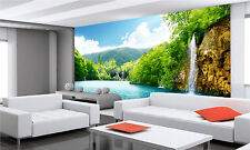 Photo Wallpaper  Waterfall Lake GIANT WALL DECOR PAPER POSTER FOR BEDROOM