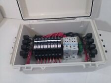 Solar Combiner Box with Circuit Breakers - 8 String PV Combiner - 20A Breakers