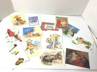 Lot of 30 Vintage Birthday Cards Anniv Thinking Greeting Christmas and Envelopes