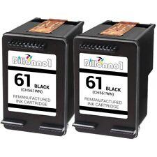 2 For HP #61 Black Ink For Deskjet 2510 2514 2540 2541 2542 2543 2544 3510 3512