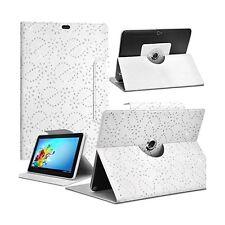 Housse Etui Diamant Universel M couleur Blanc pour Tablette Aoson M787T GPS 3G 7