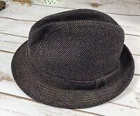 Vintage Dorfman Pacific Men's Brown Wool  Fedora Hat Sz Medium