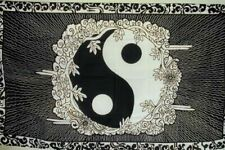 2 Yin Yang Flowers Flag Fl114 flags banners banner ying unity 3 x 5 sign banner