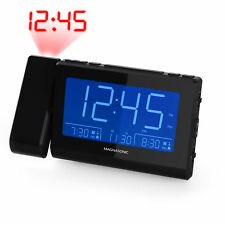 Magnasonic Alarm Clock Radio with Time Projection, Auto Dimming, Battery Backup