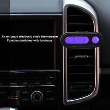 Car Interior Dashboard Mount Mini LED Digital Display Clocks Thermometer Vehicle