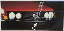1978-1983 Fiat 124 Spider X1/9 Ritmo Cabrio Bertone Sales Folder - French Text