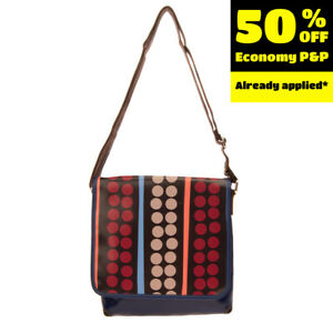 GABSILLE By GABS PVC Messenger Bag Spotted Detachable Flap Zipped Made in Italy