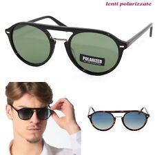 Occhiali da Sole Sun Lovers 8042 vintage retrò polarizzati sfumati azzurro verde