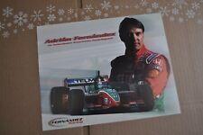 Adrian Fernandez Driver Card  Fernandez Racing Telmex Champ Car  IndyCar  IRL