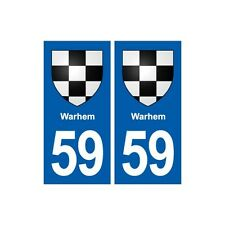 59 Warhem blason autocollant plaque stickers ville droits