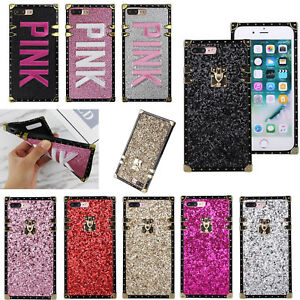 Square Glitter Phone Case For iPhone X XS Max XR 6 7 8 Plus Samsung S9 S10