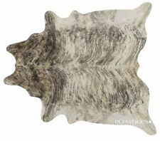 Light Brindle Brazilian Cowhide Rug Cow Hide Area Rugs Skin Leather Size XL