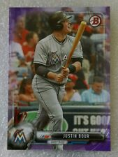 2017 BOWMAN #95 PURPLE PARALLEL #142/250 JUSTIN BOUR MIAMI MARLINS