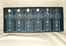 Cristal d'Arques Crystal Wine Water Goblets Set Of 6 Longchamp 7 Oz Box France