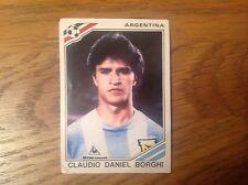 FIGURINE PANINI MEXICO 86 FOOTBALL STICKER #86 CLAUDIO DANIEL BORGHI - ARGENTINA