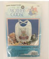 BUCILLA -Mother Goose PAT-A-CAKE-Baby Bib Cross Stitch Spec Edit #63488 New