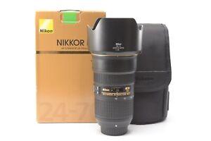 Nikon Nikkor AF-S 24-70mm f/2.8 E ED VR Lens - Boxed with Hood and F/R Lens Caps