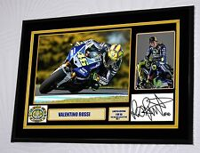 """Valentino Rossi 46. Large A3 Framed Canvas Signed """"Great Gift"""""""