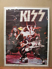medium vintage KISS original rock band concert poster music artist  7855