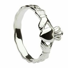 Sterling Silver Heavy Maids Claddagh Ring 8.7mm