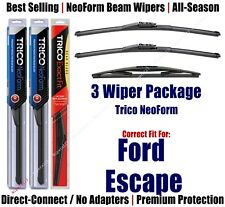 3-Pack Wipers Front & Rear NeoForm - fit 2008-2012 Ford Escape - 162013x2/12E