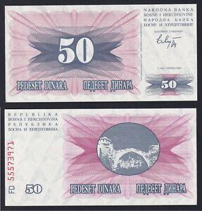Bosnia Herzegovina 50 dinara 1992 FDS/UNC  A-06