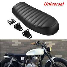 Motorcycle Cafe Racer Seat Flat Brat HumpSaddle For Honda Suzuki Kawasaki Yamaha