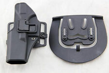 Quick Tactical Holster Left Hand Paddle with Belt Black for Glock 17 18 19 32