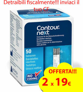 50 Contour Next strisce reattive diabete test glucosio - SCADENZA 06/22