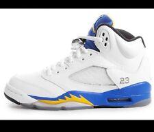 Nike Air Jordan 5 Retro GS Size 5 UK, White Blue Laney,