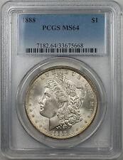 1888 Morgan Silver Dollar $1 Coin PCGS MS-64 (6)