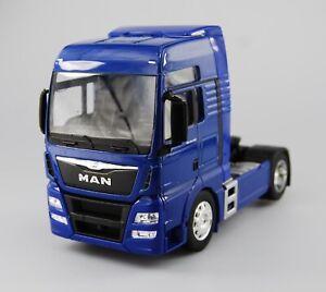 WELLY MAN TGX BLUE 1:32 SUPER HAULIER MODELS DIE CAST MODEL NEW IN BOX 18cm