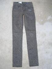 Volcom Sound Check High Waist Skinny Jeans Sz 0 / 24 Leopard Print NEW