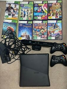 xbox 360 kinect bundle and eight xbox games - used - very good condition