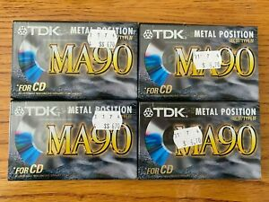 TDK MA-90 Blank Audio Cassette, Metal Position 90 Minutes Type IV Made in Japan