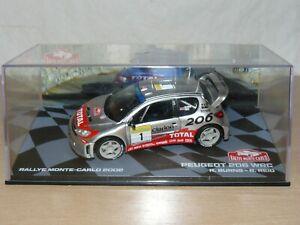 Coche PEUGEOT 206 WRC Total Burns Reid Rally Montecarlo 2002 ixo car 1/43