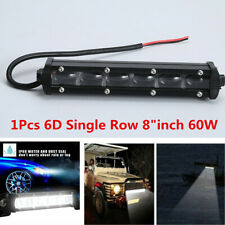 1x 8inch 60W Off-Road Work Lamp Spot LED CREE Chip 6D Lens 6000K Fog Light Bar