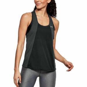 Under Armour Threadborne Ladies Black Fashion Sleeveless Sports Running Vest XL