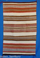 """Navajo Transitional Period Banded Pattern Blanket / Rug c.1890 36"""" x 58"""""""